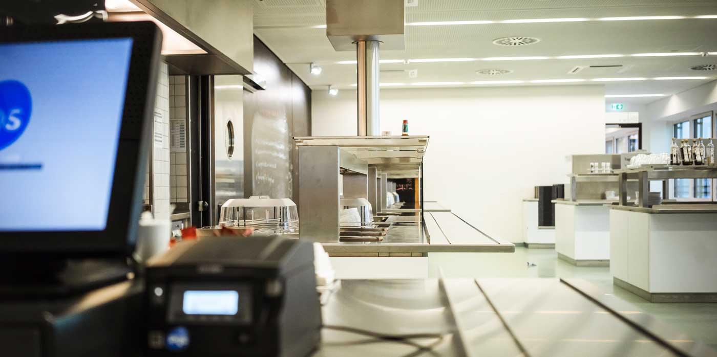 Foto von einer Großküche